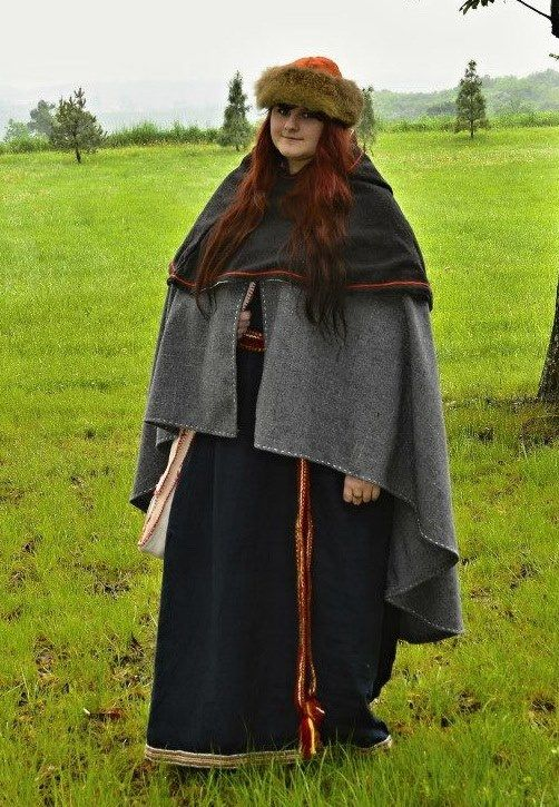 medieval woolen cape and cloak