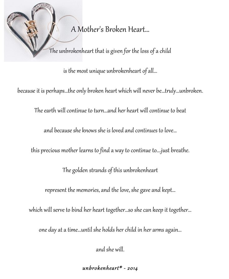 23 best gift for a broken heart images on pinterest words coupon mothers day after the loss of a child fandeluxe Choice Image