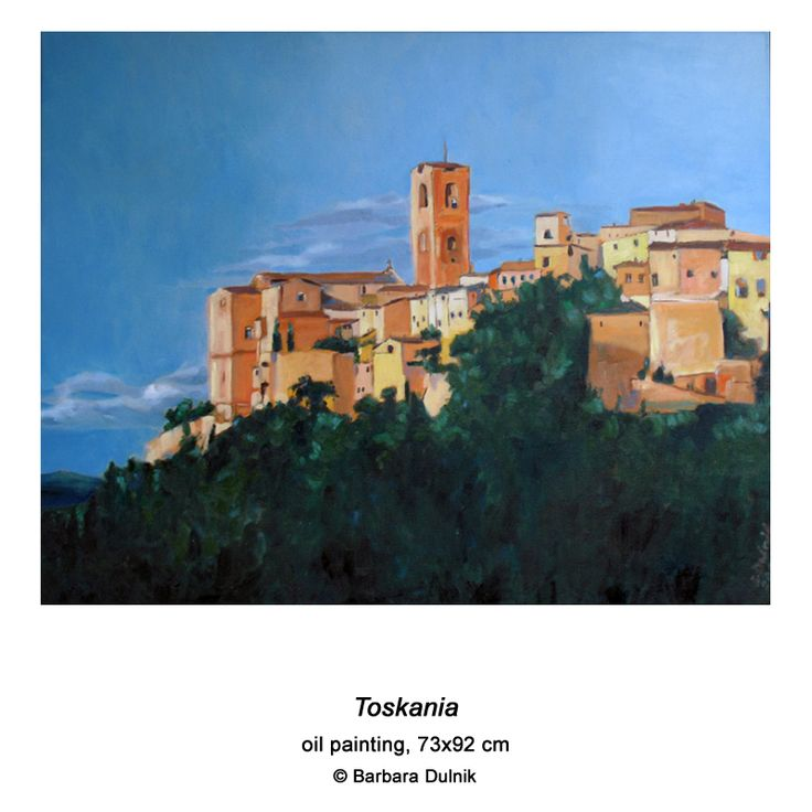 """Tuscany"" - oil painting"