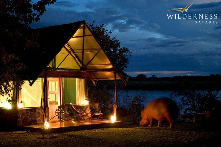 Mvuu means hippo in the local Chichewa language and the name epitomises the large numbers of hippo that inhabit the nearby Shire River #Malawi #Africa #Safari