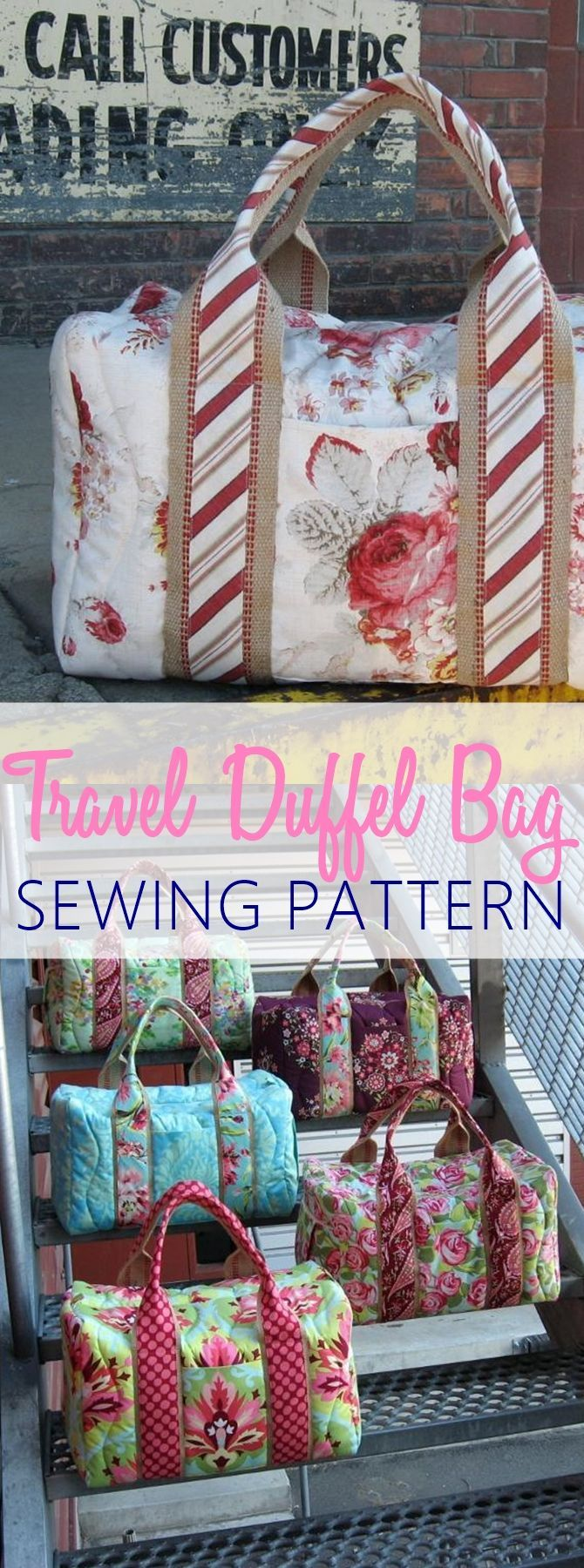 Travel duffel bag sewing pattern. PERFECT for weekends and night overs. GET THE PATTERN & 2924 best Sewing images on Pinterest | Babies clothes Baby ... pillowsntoast.com