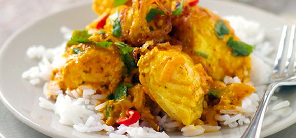 This delicious pollock curry from Fish is the Dish is cheaper than a takeaway and just as cheerful.