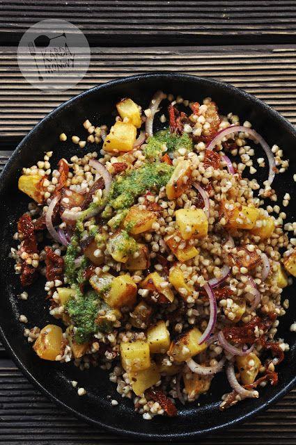 Kardamonovy: Kasza gryczana z dynią, suszonymi pomidorami i pes...