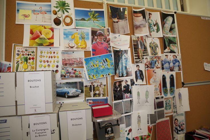Mood Wall - Tableau des images qui inspirent les collections futures de la marque @Vicomte A