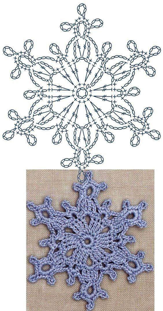 Снежинки крючком. Схемы (Вязание крючком) | Журнал Вдохновение Рукодельницы