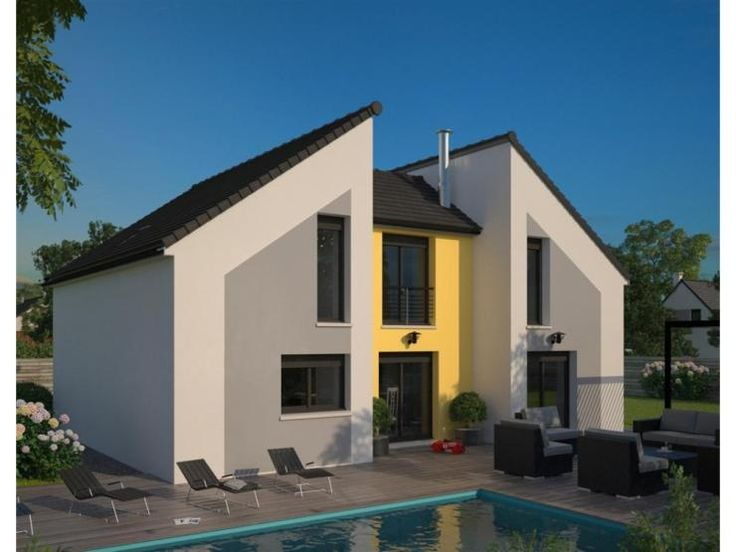 Les 24 meilleures images du tableau maisons modernes sur for Modele maison etage contemporaine