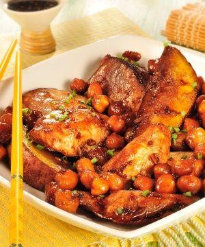 Grão de Bico com Frango e Gengibre (receita da chef Angélica Spínola)