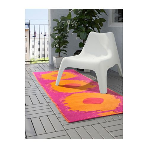 SOMMAR 2017 Rug, flatwoven IKEA The rug is perfect for outdoor use since it is made to withstand rain, sun, snow and dirt.