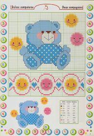 Γουίνι το αρκουδάκι και 14 ακόμη σχέδια με αρκουδάκια για κέντημα σταυροβελονιά .  Winnie the Pooh and 14 more teddy bear cross stitch p...