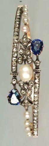 diamond, pearl and sapphire antique bracelet... stunning