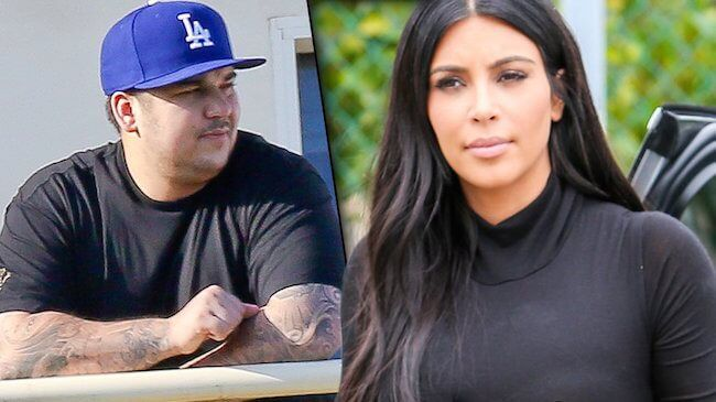 Rob Kardashian and Kim Kardashian: They may fight, but they are always together...