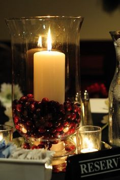 cranberry fillers hurricane candle - Google Search
