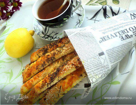 Хлебные палочки «Уголок Франции». Ингредиенты: мука, дрожжи сухие, мед