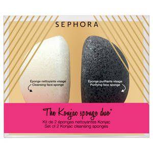 Sephora-The Konjac sponge duo* - Set de 2 éponges nettoyantes Konjac