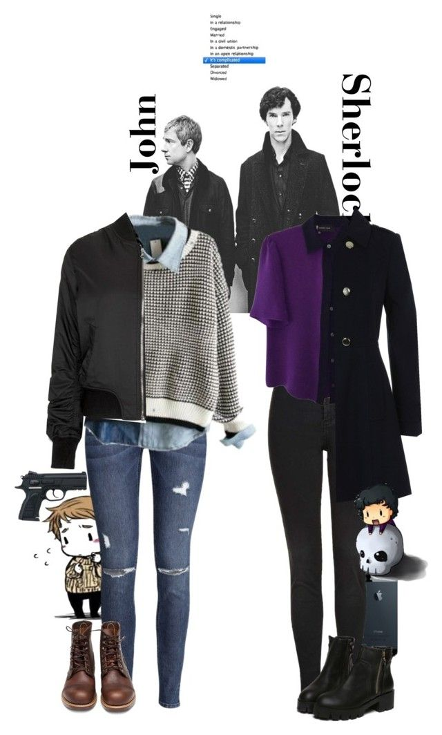 """I SHIP JOHNLOCK OKAY"" by whovian-of-fashion ❤ liked on Polyvore featuring H&M, Red Wing, Topshop, Derek Lam and Miss Selfridge"