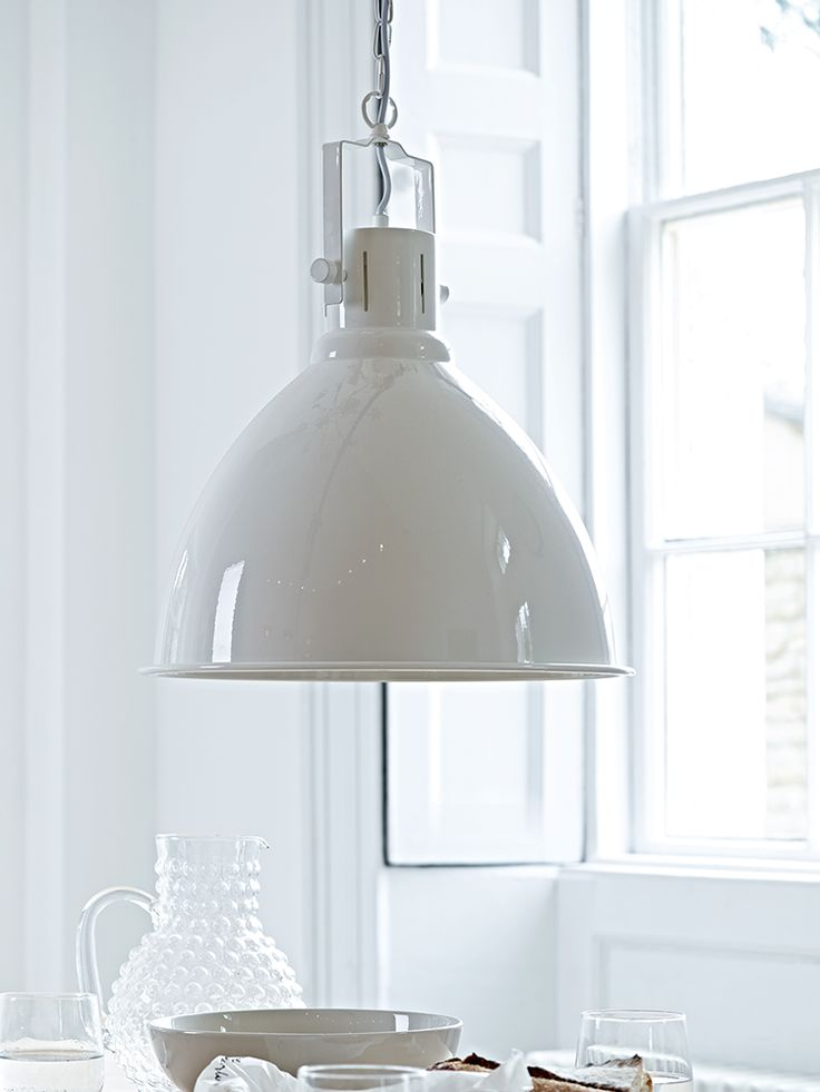 With a gloss white finish, our Nordic inspired pendant light includes an industrial chain-hung flex for displaying at any height to suit your space. This statement pendant will fit in nicely with your existing interiors, whether hung over your favourite reading spot or displayed alongside our Gunnar Pendant Light- Grey above your dining table. Click here to view our useful lighting buying guide, andtake a look at our blogfor ideas on how incorporate lighting into your home.