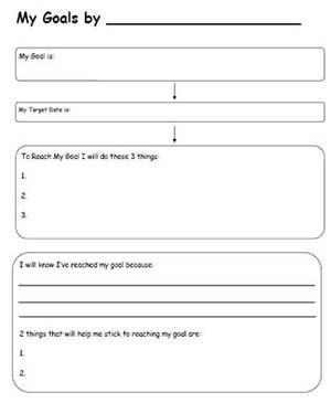 3 Worksheets to Help Your Students Set Goals: Setting Goals Worksheet # 2