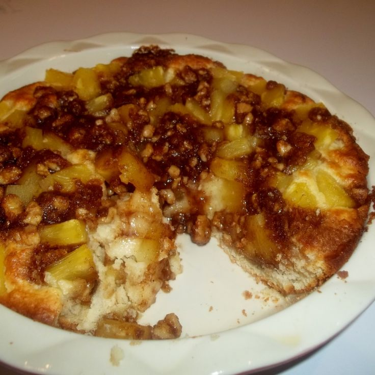 Quick Pineapple Coffee Cake