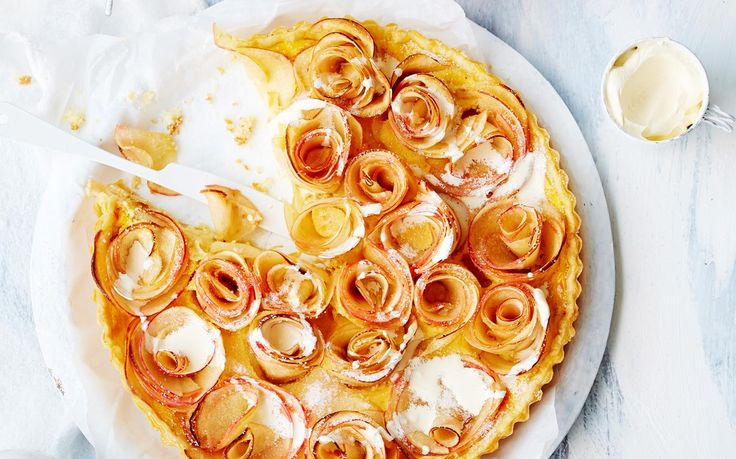Apple and cardamom tart recipe - By Australian Women's Weekly, Wonderfully fragrant, the combination of apple and cardamon is a match made in heaven. We've paired them together here in this gorgeous tart with a golden pastry and a dollop of fresh cream to create a perfectly balanced dessert.