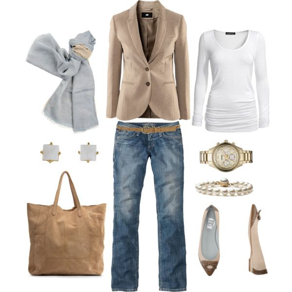 Classy way to dress up jeans:) Very chic.