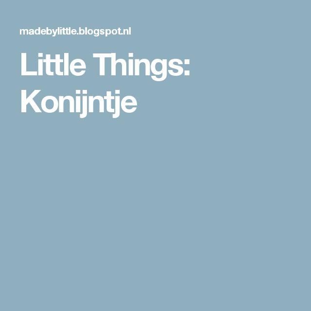 Little Things: Konijntje