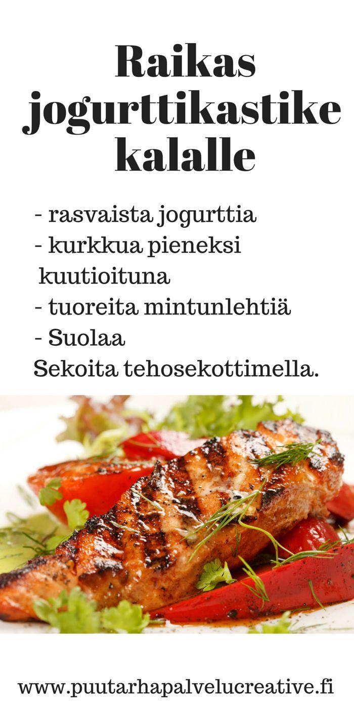 Tässä uskomattoman nopea ja herkullinen kastike kalan seuraksi. Yrttimausteena minttu. www.puutarhapalvelucreative.fi