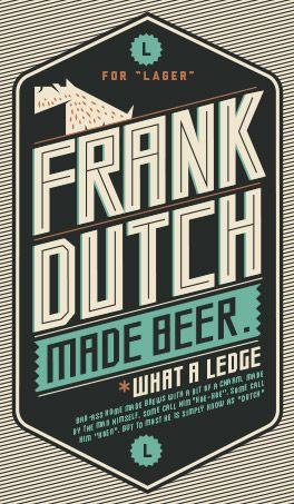 FRANK DUTCH beer - Louis Minnaar Creative Visual Design