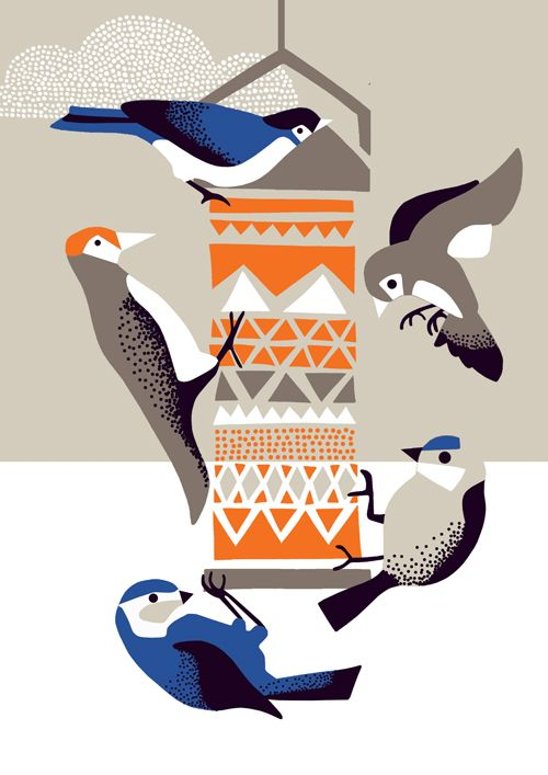 Early Bird Card Range by Nadia Taylor #illustration #bird #nature