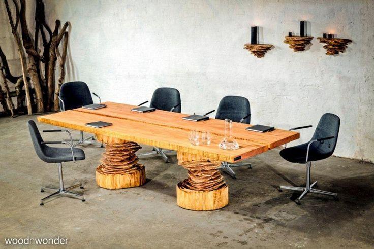 rechteckiger tisch aus massivholz auch als konfereztisch geeignet, Möbel