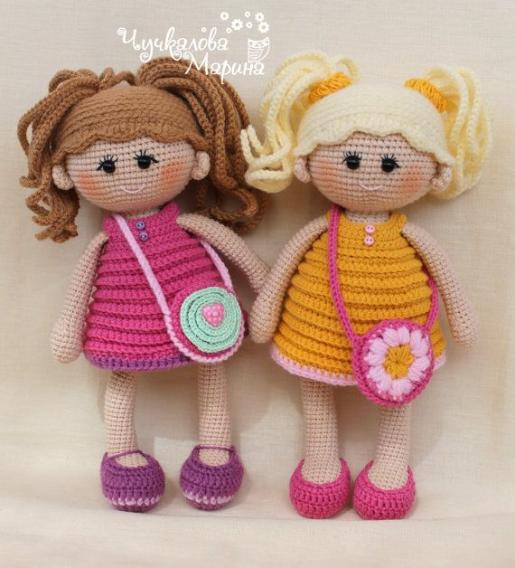 "Crochet doll pattern ""Pumposhka"" PDF"