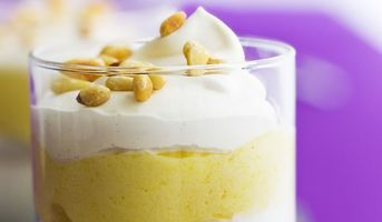 Recette Verrines ananas-coco #recette #fruit #glace #fromage #facile