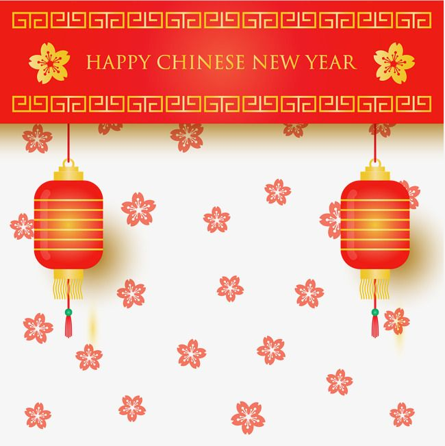 Chinese New Year Decoration Lantern Plum Flower Vector Png Transparent Clipart Image And Psd File For Free Download Chinese New Year Decorations New Years Decorations Plum Flowers
