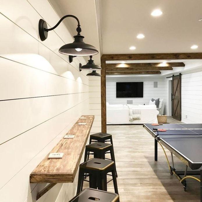 50 do it yourself simple basement finishing ideas and tips house basement house basement. Black Bedroom Furniture Sets. Home Design Ideas