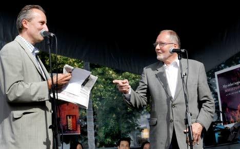Oopperapäivän avaus Satamapuistossa – Jan Hultin ja Aarno Cronvall
