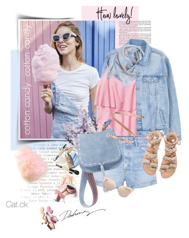 """Cotton candy"" by ts-alex ❤ liked on Polyvore featuring MANGO, Gap, Alexander McQueen, GRLFRND, Steve Madden, Elina Linardaki, Fendi, Paul & Joe, Fausto Colato and sandals"