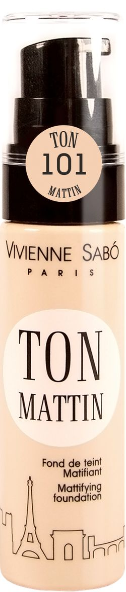 TON MATTIN — матирующий тональный крем | Vivienne Sabo