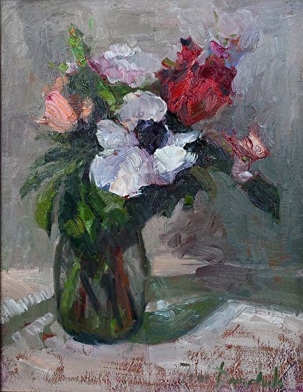 Flowers for Her by Toni Danchik Oil ~ 14 x 11