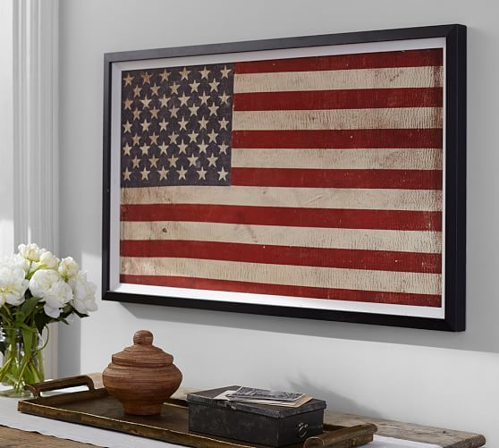 American Flag Framed Print In 2019 Framed American Flag