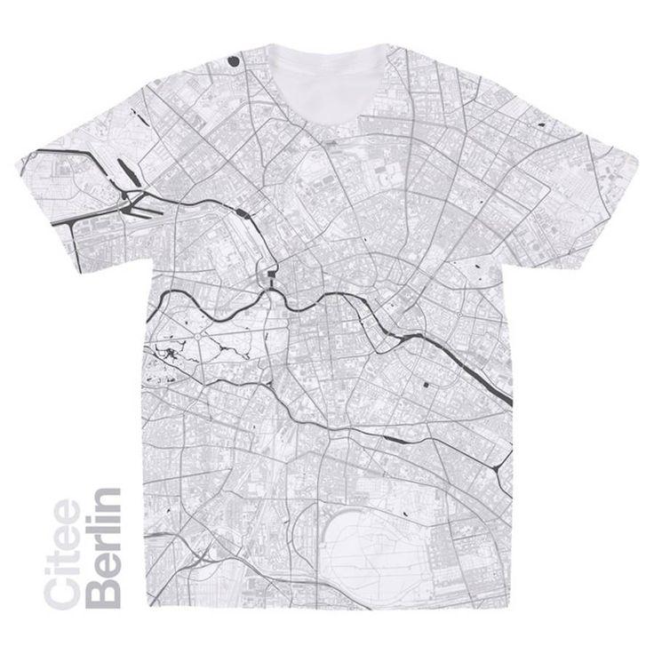 City Maps Printed on T-Shirts – Fubiz Media
