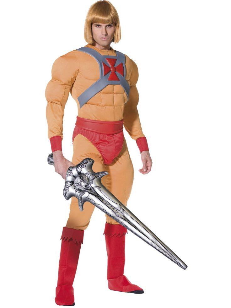 He-Man. He-Manin naamiaisasu tekee jokaisesta varsinaisen muskelimiehen. Naamiaisasuun kuuluu tietenkin myös taikamiekka, joka muuntaa tavallisen Prinssi Adamin He-Maniksi. Huikean naamiaisasun voit täydentää oheistuotteista löytyvällä peruukilla.