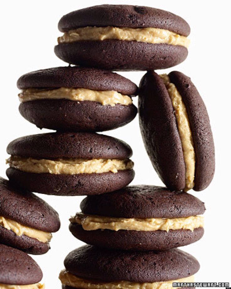 Chocolate and mocha macaroon styled sandwich cookies.great dessert or ...