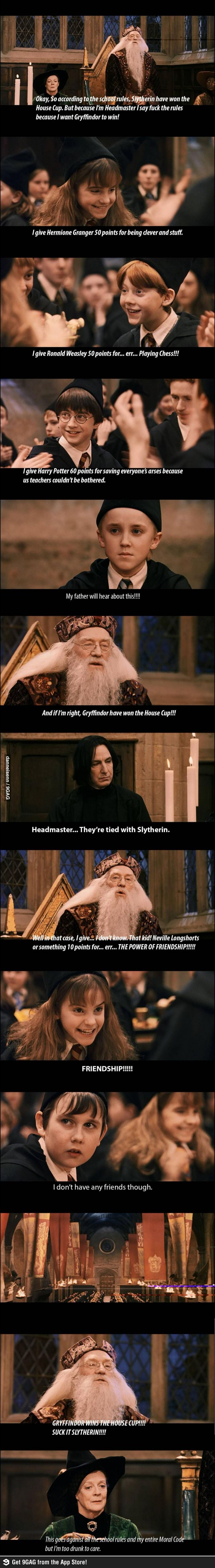 Dumbledore: Screwing Slytherin since 1997 bahaha