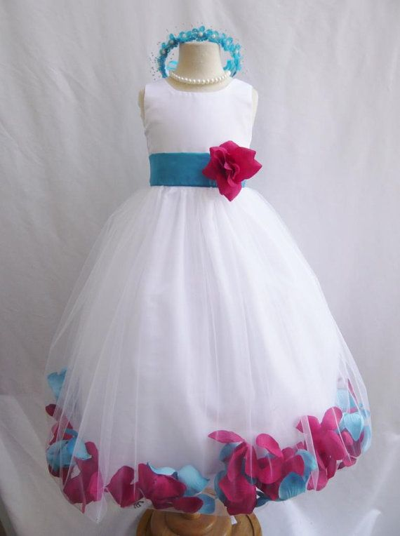 CUSTOM COLOR - Flower Girl Dress - Rose Petal Dress - Wedding, Easter, Junior Bridesmaid, Formal Girl Dress, Recital (FGPT)