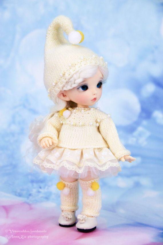 "Наряд ""Гномик"" на пукифи  (свитер,  юбка, шапка, колготки, гетры)"