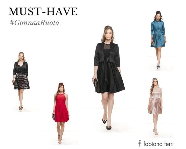 #Musthave... #GonnaaRuota Dal fascino anni '50, questi capi di abbigliamento ormai da tempo hanno conquistato il cuore delle fashion addicted per il loro stile trendy e #glamour :-) #must #trend #moda #style #fashion #tendenza #dress #abiti #atelier #stile #eleganza #elegant #nuance #color