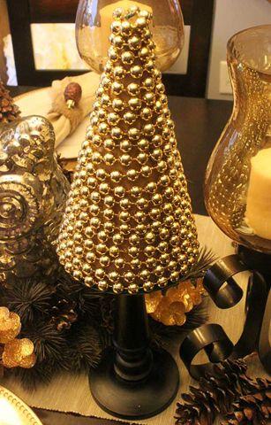 Árvore de Natal de ouro