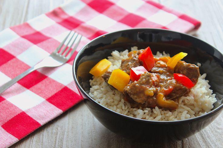 Goulash met rijst