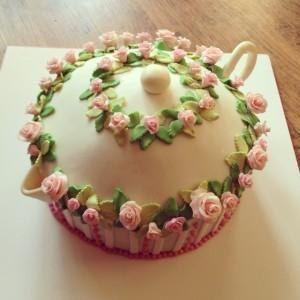 3D торт Чайник. Торт из мастики