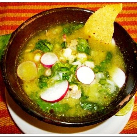 """Mexican Heritage Month Guest Post: Our guest today is Nora Ceccopieri, author of the blog """"Gusta Usted"""". In this post she prepares a Green Pozole that I'm sure you will love: just reading the list of ingredients makes your mouth water. Green Pozole is a typical dish from the state of Guerrero, even though there...Read More"""