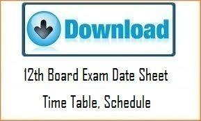 UP Board 12th Time Table 2018, UPMSP Intermediate Date Sheet 2018, UP Intermediate Date Sheet, Student Download UP Board 12th Exam Date Sheet 2018